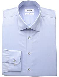 Men's Big and Tall Non Iron Herringbone Spread Collar Dress Shirt