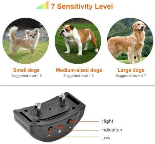 f/ür Hunde Maxi-Halsband Chock-Fernbedienung Anti-Bell-Halsband gegen Bellen Haustiere f/ür Hunde elektrisch