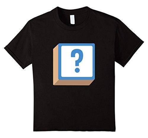 Kids Question Mark ? Alphabet Block Halloween Group Costume Shirt 10 (Office Group Costumes Ideas)