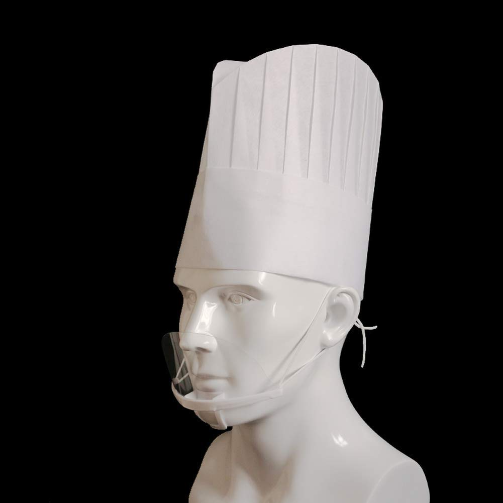 Yevison 20PCS Hotel Kitchen Restaurant Chef Disposable Hat Non-woven Chef Cap White by Yevison