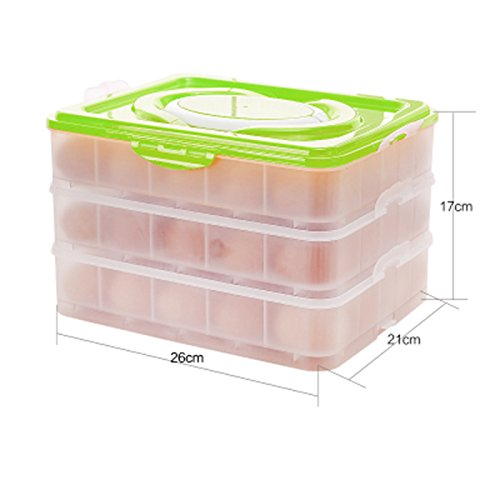 Amazoncom Three layers Eggs Storage Container Holder Box Covered
