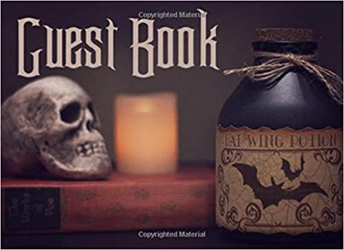 Guest Book: Creepy Guest Book for Halloween Parties, Haunted