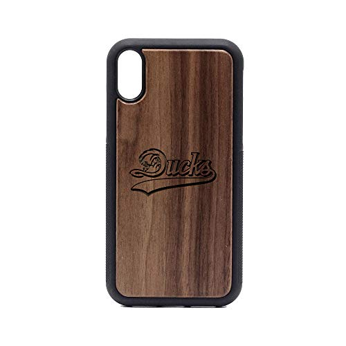 Long Island Ducks - iPhone XR Case - Walnut Premium Slim & Lightweight Traveler Wooden Protective Phone Case - Unique, Stylish & Eco-Friendly - Designed for iPhone XR