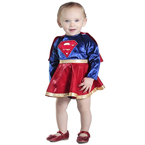 Princess Paradise Baby Girls' Supergirl Costume Dress and Diaper Cover Set, As Shown, 12 to 18 Months - Girl Superwoman Costumes