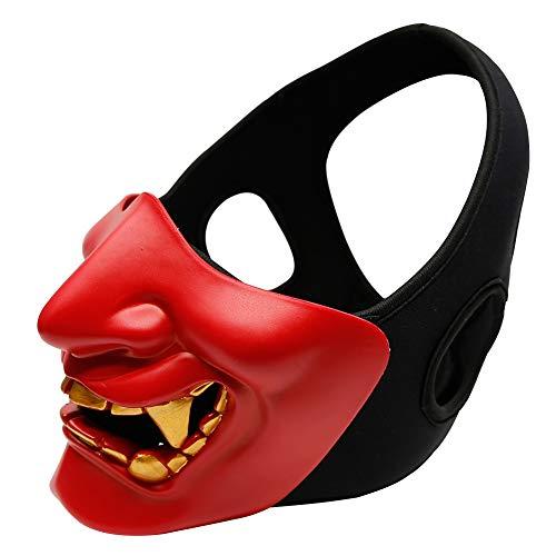 Smiley Like Cosplay mask Horror Devil mask Adult face mask Half face Tactical mask TPU Protective mask -