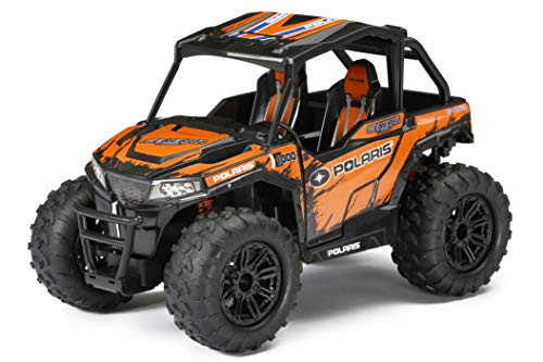 (TV Blast Down The Beaten Trails with The All-New,Thrilling and Fun New Bright RC 1:14 Scale Radio Control Polaris ATV - Orange,Makes a Great Gift)