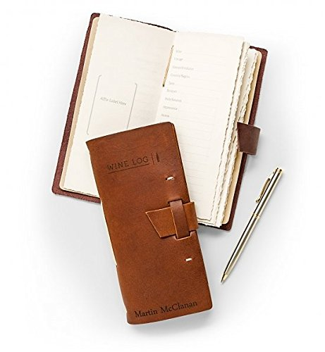 ather Wine Log - Genuine Leather Wine Tasting Journal with Complimentary Personalized Cover - Wine Lover's Gift (Package Wine Cellar)