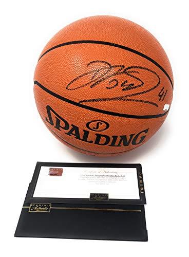 Dirk Nowitzki Dallas Mavericks Signed Autograph NBA Game Basketball Black Ink Panini Authentic Certified