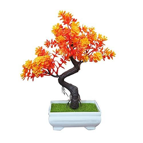 TOMHY Artificial en Maceta árbol Bonsai de simulación de Plantas ...