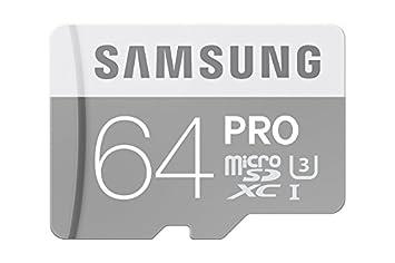 Samsung PRO Plus Micro SDXC 64GB bis zu 90MB/s lesen, bis zu 80MB/s schreiben, Class 10 Speicherkarte (inkl. SD Adapter), gra