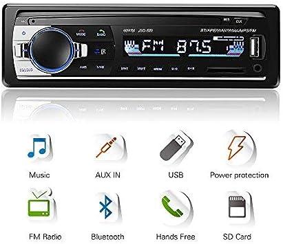 Bluetooth Head Unit Single Din Car Audio Stereo Fm Elektronik