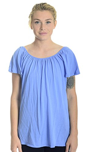 Splendid Women's Featherweight Jersey Tie Back Top in Cornflower (Large) (Splendid Feather)