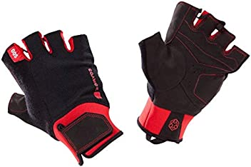 ab4026d14 Domyos 500 Weight Training Glove with Rip-Tab Cuff - Black/Red