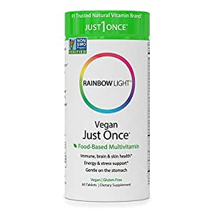 Rainbow Light - Just Once® Multivitamin - Provides Antioxidant Protection, Supports Energy, Digestion, Skin, Eye and Immune Health - 60 Tablets