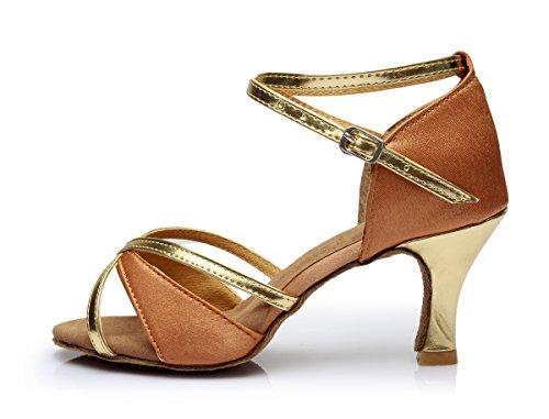 medio Vesi Alto Latino Baile Beige zapatos De Tacón 5cm 35 Para Mujer tacón wwTAYOq