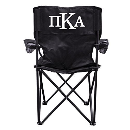 Pi Kappa Alpha Black Folding Camping Chair with Carry Bag