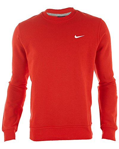 Nike Club Crew–Sudadera Swoosh Sport Red/White