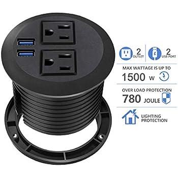 Conference Recessed Power Strip Socket Desktop Power