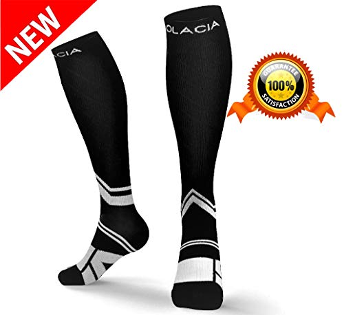 Olacia Compression Socks Men Women, Best Graduated Athletic Socks Running, Nurses, Pregnancy, Flight Travel, Medical, Maternity,20-30 mmHg