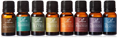 ArtNaturals Aromatherapy Top 8 Essential Oils, 100% Pure of The Highest Quality, Peppermint/Tee Tree/Rosemary/Orange/Lemongrass/Lavender/Eucalyptus/Frankincense, Therapeutic Grade 41bPSvA 2BNDL