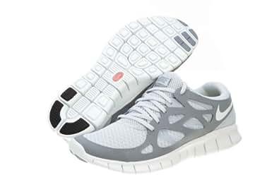 Nike Free Run+ 2 Mens Running Shoes 443815-012 Pure Platinum 6.5 M US