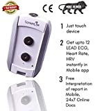Sanket Pocket 12-Lead Rubber Ecg Device for Assessment of Cardiac Health with Instant App Interpretation and Optional Cardiologist Review (Grey)