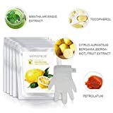 5 Pairs MOND'SUB Moisturizing Gloves | Natural & Organic Moisturizing Hand Masks for Dry Skins | Collagen Spa Treatment with Vitamin C| Professional Hydrating Gloves for Brightening & Whitening Skins