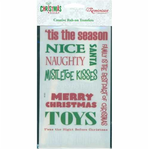 Reminisce Christmas Glitter Rub-Ons - Phrases (Glitter Christmas Reminisce)