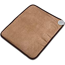 """Radiant Far Infrared Small Mini Mat Pad with 100% Amethyst Crystal Radiant Heat Therapy (20"""" X 23"""") FDA Registered Manuf - Adjustable Temp Settings - Flexible."""