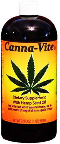 Canna-Vite-12-Essential-Vitamins-Dietary-Supplement-with-Hemp-Seed-Oil-32-fl-oz