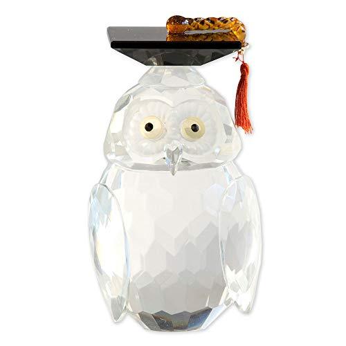 (Bits and Pieces - Crystal Graduation Owl Figurine - Graduation Gift - Owl Statue Home Décor)