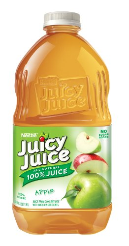 Juicy Juice Apple Juice, 64-Ounce Pet Bottles (Pack of (Juicy Juice Bottle)