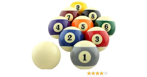 9 Striped Pool Ball Clay Billiard Ball Size 2.25 Nine IX Yellow Stripe No
