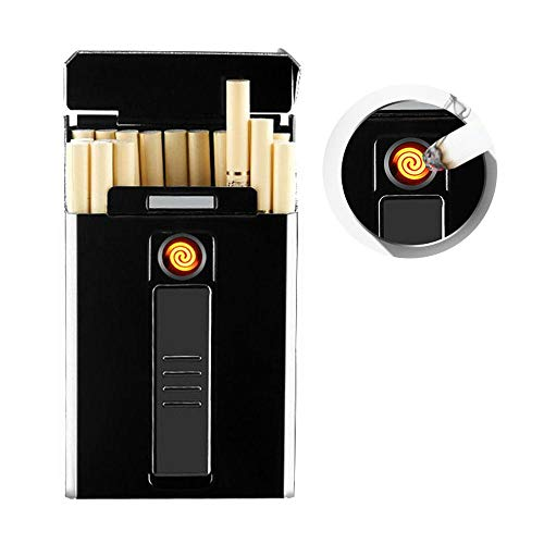 Cigarette Case Box with Electric Lighter