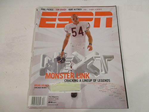 DECEMBER 24, 2001 ESPN FEATURING BRIAN URLACHER OF THE CHICAGO BEARS *MONSTER LINK - CRACKING A LINEUP OF LEGENDS* MAGAZINE