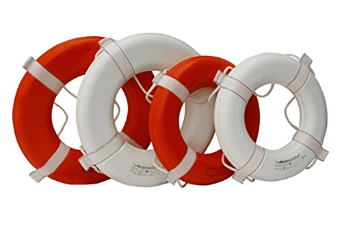 Kemp 10-205 24'' Coast Guard Approved Ring Buoy - White 10-205-WHI 10-205 by Kemp Usa