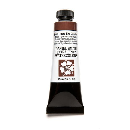 Burnt Tiger (Daniel Smith Extra Fine Watercolor 15ml Paint Tube, Burnt Tiger's Eye Genuine)