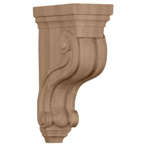 (Ekena Millwork COR03X06X10TSRO 3 3/8-Inch W x 6 1/2-Inch D x 10 1/2-Inch H Boston Traditional Scroll Corbel, Red)