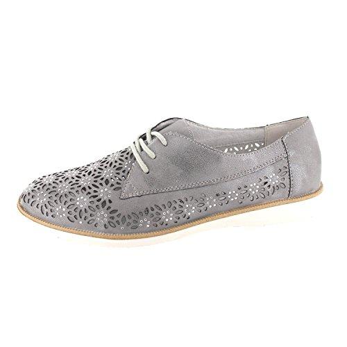 Remonte Damen Halbschuhe - Grau Schuhe in Übergrößen Grau