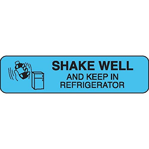 Special Instructions Label SHAKE WELL AND KEEP IN REFRIGERATOR