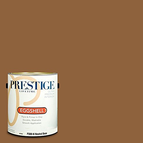 (Prestige Paints P300-N-SW6118 Interior Paint and Primer in One, 1-Gallon, Eggshell, Comparable Match of Sherwin Williams Leather Bound, 1 Gallon, SW118-Leather)