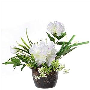 Meen Artificial Flowers, Creative Fashion Decoration Peony Flower Pot Landscape Artificial Flower Artificial Artificial Plant 36