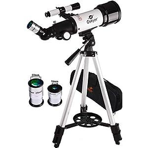 Gskyer Telescope, Travel Telescope, 70mm Astronomical Refractor Telescope for Kids Beginners, Portable Telescope For…