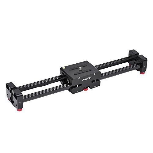 "Andoer 20.5""/ 52cm Extendable to 41""/ 104cm Retractable Camera Video Slider Dolly Track Rail Stabilizer Load Up to 8kg for Canon Nikon Sony DSLRs Camcorders from Andoer"