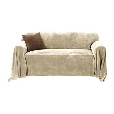 Amazon Com Sure Fit Plush Throw Hemmed Slipcover Sofa 70 Inch By