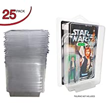 Display Protector Case for Star Wars Action Figures - for Black Series Full Card and Blister Figures | Compatible for Carded Figurine Protectors (Clear Plastic) Scratch Resistant Boxes (25 Pack) EVORETRO