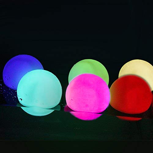 UNIQLED LED Waterproof Ball Mood Light,Set of 6 Mood Light Garden Deco Balls- Battery Operated 3