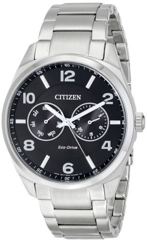 Citizen Men's Eco-Drive Stainless Steel Dress Watch with Day/Date, AO9020-84E ()