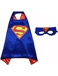 Superhero Cape and Mask Costume Set Boys Girls Birthday Halloween Play Dress up