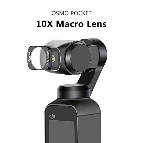 Neewer 10X Macro Lens Compatible with DJI OSMO Pocket Camera, Magnetic Installation Design, High Resolution and Crystal Clear Magnification for Close-up Photography, Insects, Flowers, Trinkets, Food